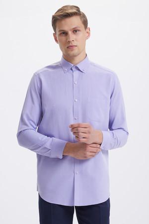 Hatemoğlu - Regular Mor Gömlek