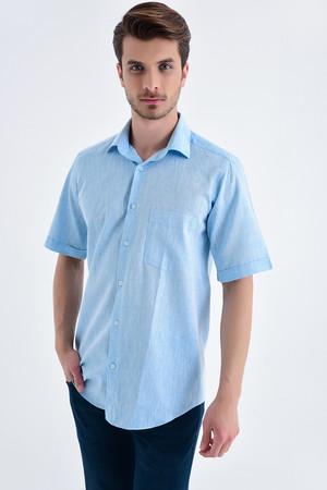 Hatemoğlu - Regular Turkuaz Gömlek