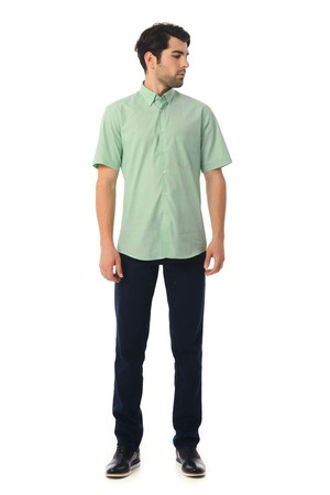Regular Yeşil Gömlek - Thumbnail
