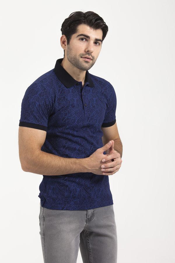 Saks Baskılı Polo Yaka T-shirt
