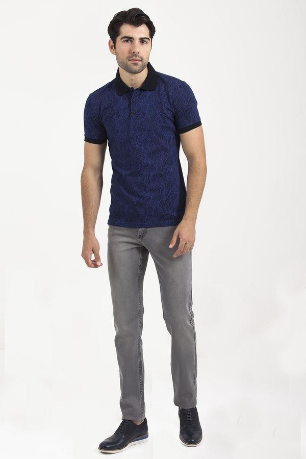 HTML - Saks Baskılı Polo Yaka T-shirt (1)