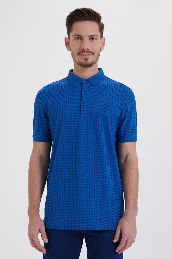 HATEMOĞLU - Saks - Lacivert - Desenli Regular T-shirt