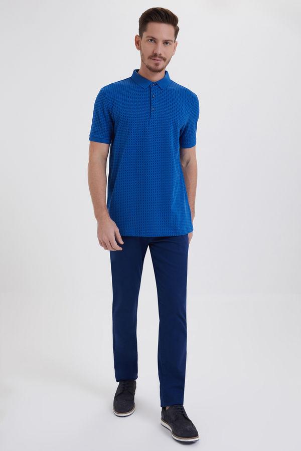 HATEMOĞLU - Saks - Lacivert - Desenli Regular T-shirt (1)