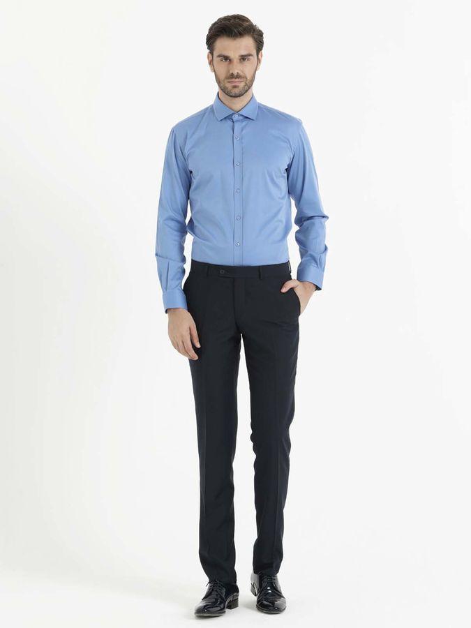 Hatem Saykı - Mavi Slim Fit Gömlek (1)