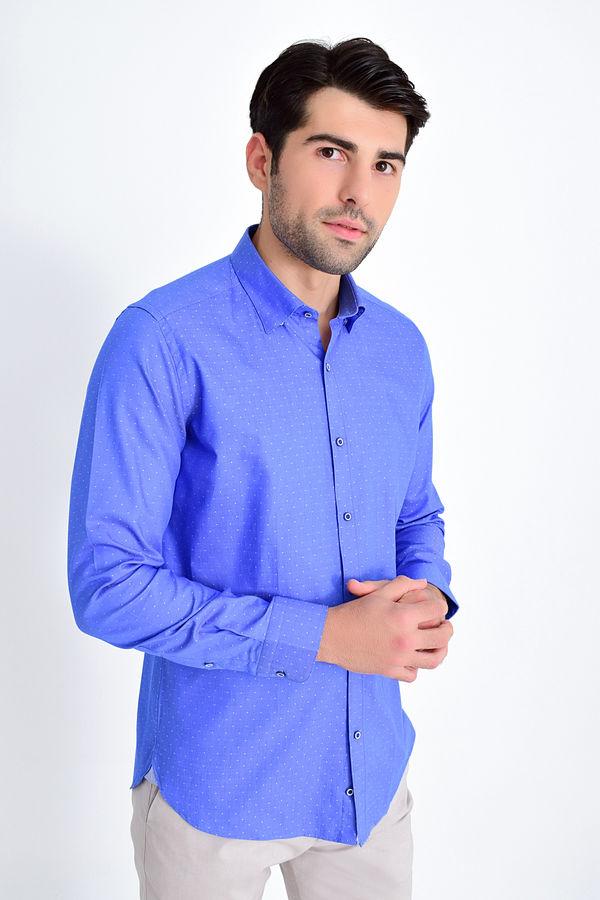 Hatem Saykı - Sax Desenli Slim Fit Gömlek