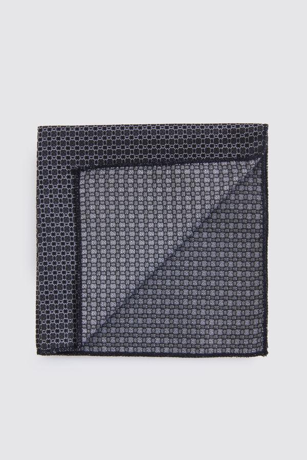 Hatemoğlu - Desenli Siyah Mendil