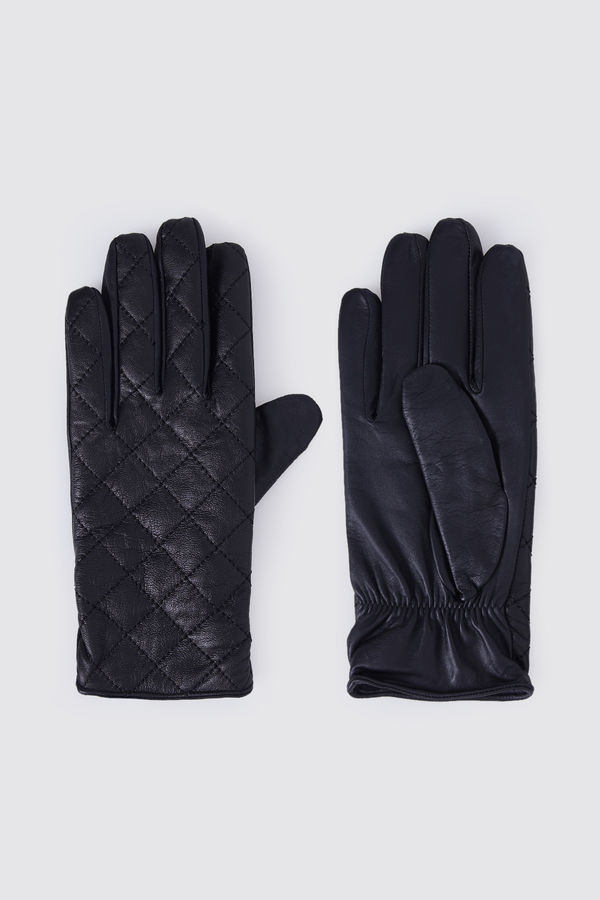 Hatem Saykı - Hakiki Deri Siyah Eldiven