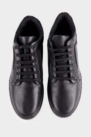 Hakiki Deri Siyah Günlük Ayakkabı - Thumbnail