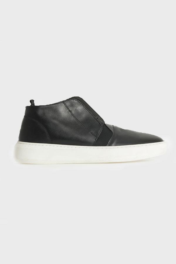 HTML - Hakiki Deri Siyah Günlük Ayakkabı