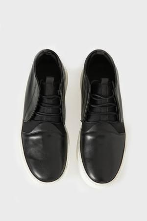 Siyah Deri Günlük Ayakkabı - Thumbnail