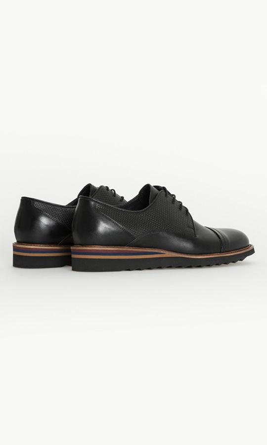 Siyah Deri Casual Ayakkabı