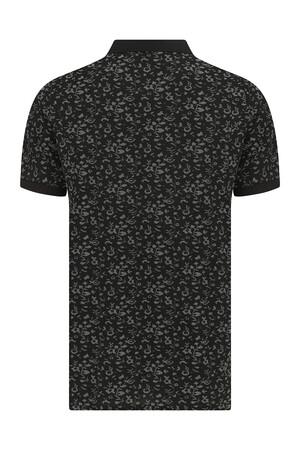HTML - Siyah Desenli Polo Yaka Tişört (1)