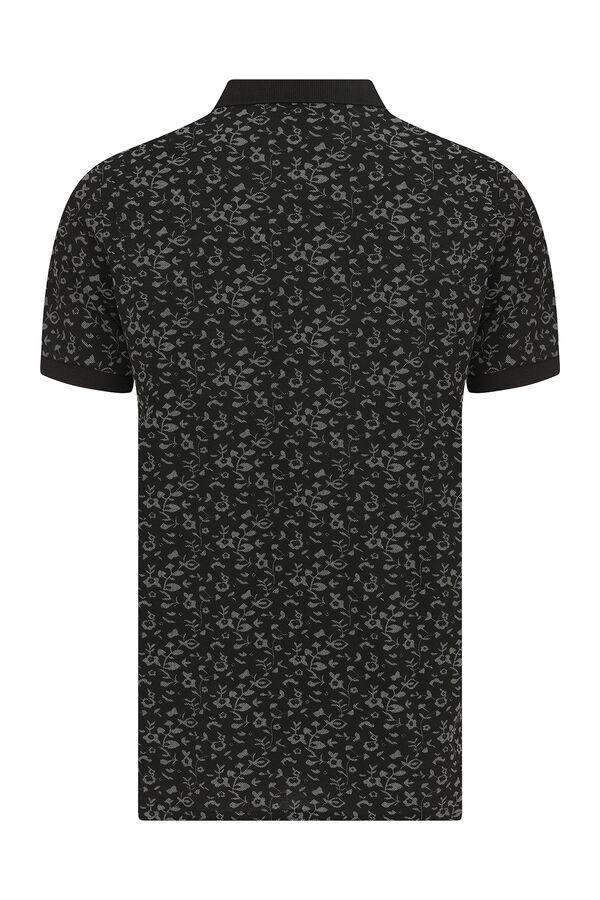 Siyah Desenli Polo Yaka Tişört
