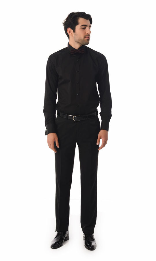 Hatem Saykı - Cerimonia Slim Fit Siyah Gömlek (1)