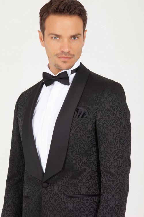 Siyah D. Cerimonia Slim Fit Takım Elbise