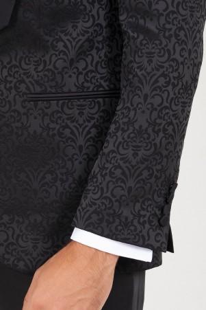 Siyah D. Cerimonia Slim Fit Takım Elbise - Thumbnail