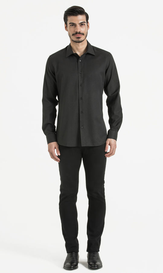Hatemoğlu - Siyah Desenli Regular Gömlek (1)