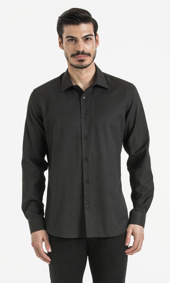 Hatemoğlu - Siyah Desenli Regular Gömlek