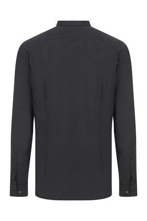 Hatemoğlu - Siyah Desenli Slim Fit Gömlek (1)