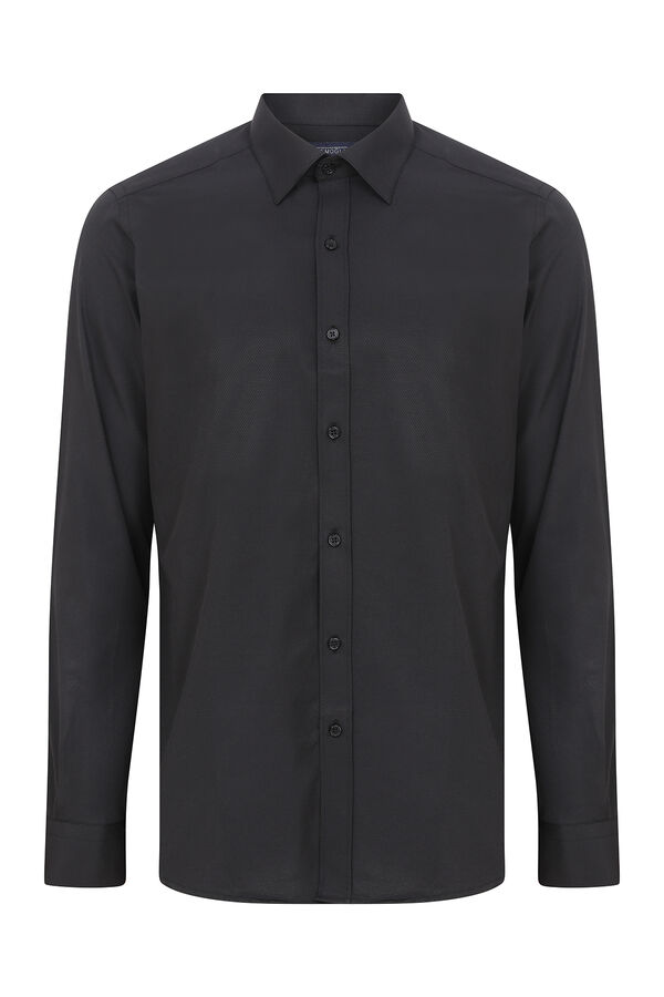 Hatemoğlu - Siyah Desenli Slim Fit Gömlek