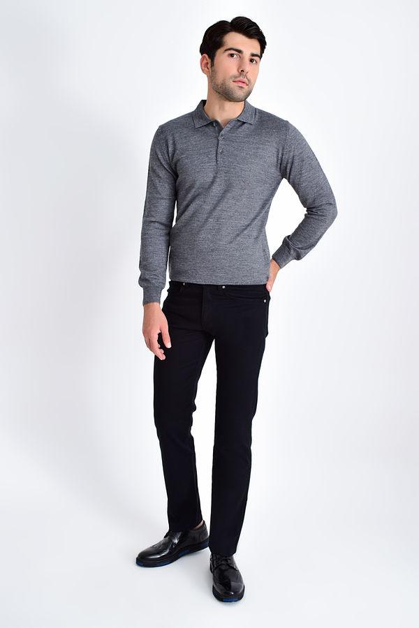 HATEMOĞLU - Siyah Desenli Regular Pantolon (1)