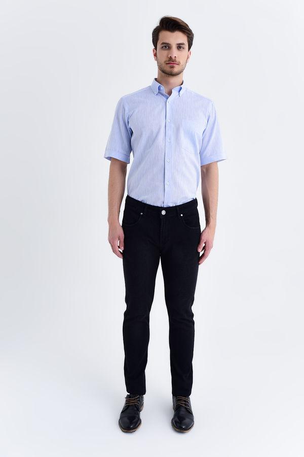 HATEM SAYKI - Siyah Desenli Slim Fit Pantolon (1)