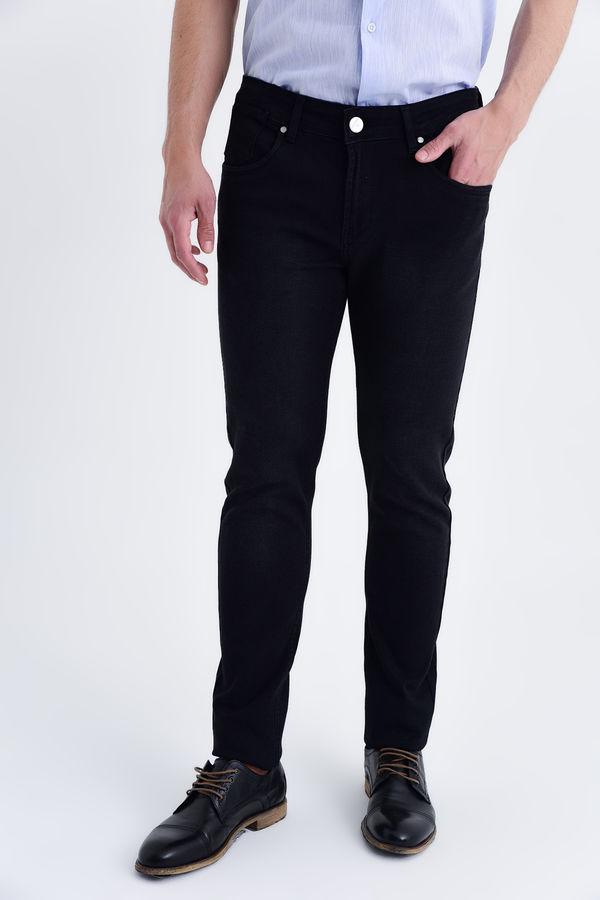 HATEM SAYKI - Siyah Desenli Slim Fit Pantolon