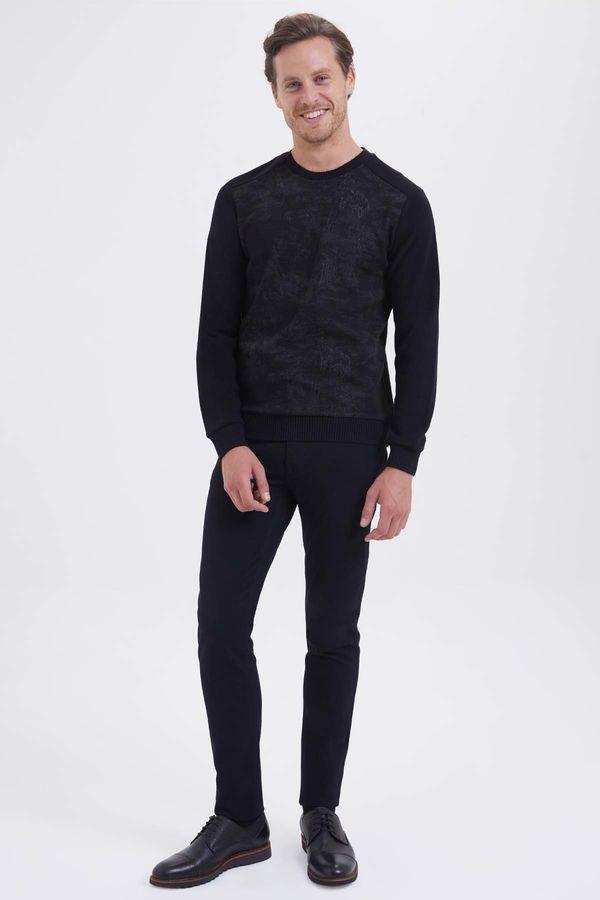 HTML - Siyah - Gri Slim Fit Sweatshirt (1)