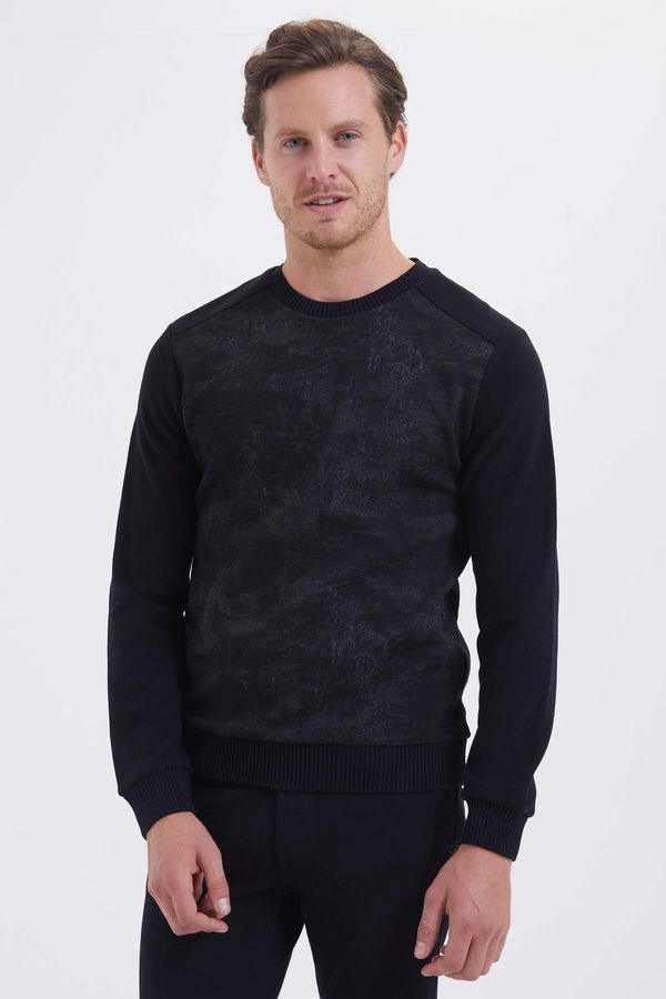 HTML - Siyah - Gri Slim Fit Sweatshirt