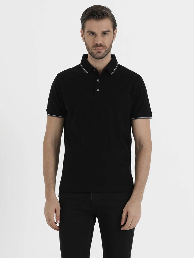 HATEM SAYKI - Siyah Jakarlı Regular T-shirt