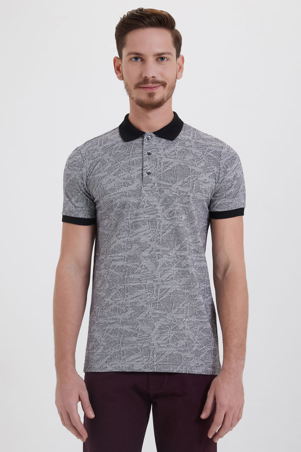 HTML - Siyah Jakarlı Regular T-shirt