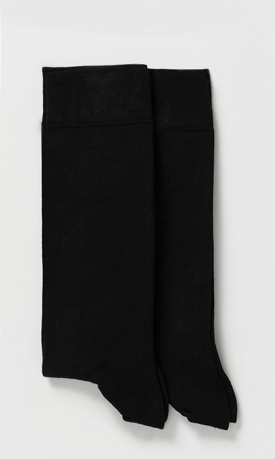 Hatem Saykı - Siyah - Lacivert 2'li Çorap