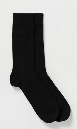 Siyah - Lacivert 2'li Çorap - Thumbnail