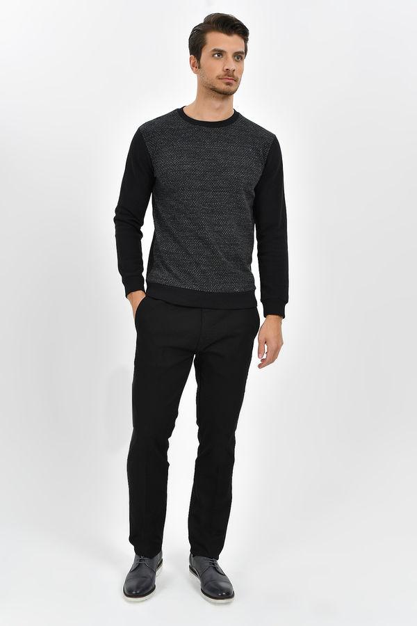 Hatem Saykı - Siyah Petek Slim Fit Pantolon (1)