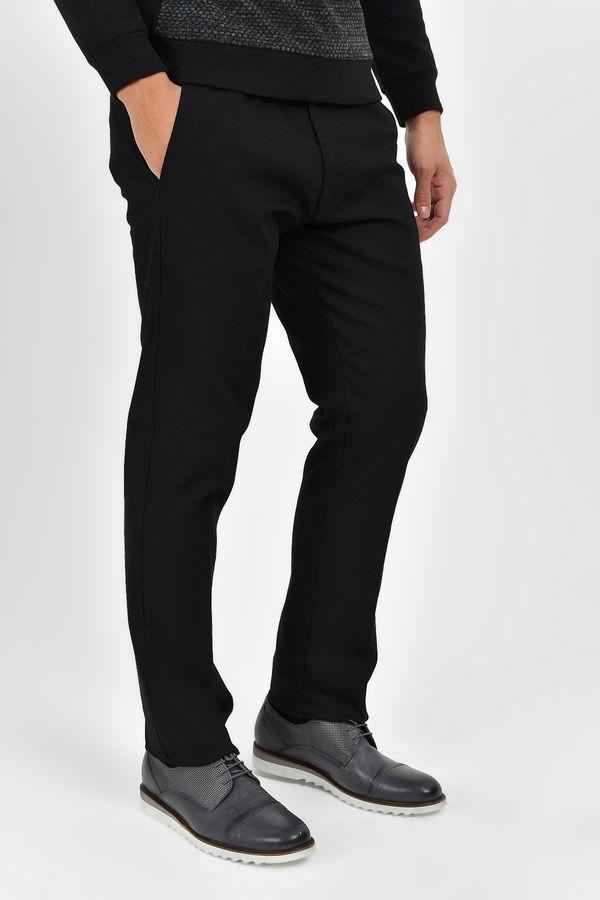 Hatem Saykı - Siyah Petek Slim Fit Pantolon