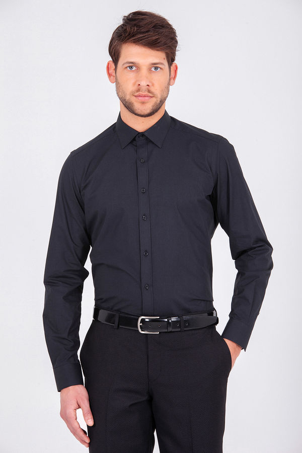 Siyah Regular Gömlek