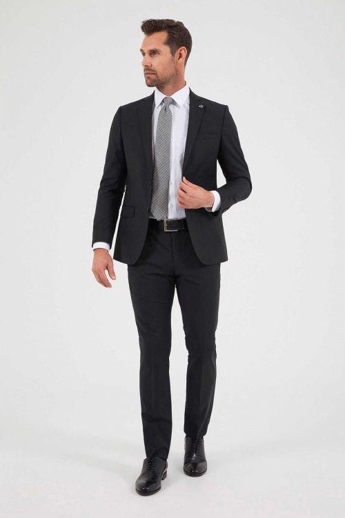 HATEM SAYKI - Siyah Slim Fit Takım Elbise