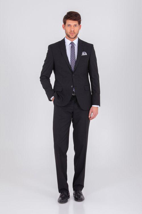 Hatem Saykı - Siyah Regular Takım Elbise