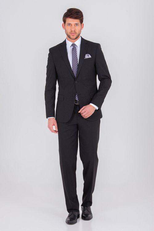 Hatem Saykı - Siyah Regular Takım Elbise (1)