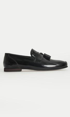 HATEM SAYKI - Hakiki Deri Siyah Klasik Ayakkabı