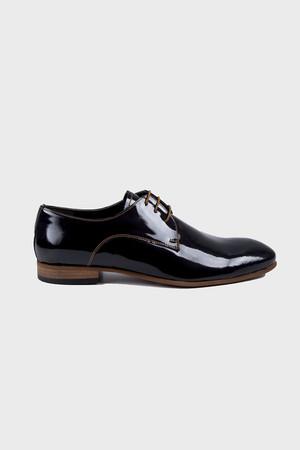 Hakiki Deri Siyah Klasik Ayakkabı - Thumbnail