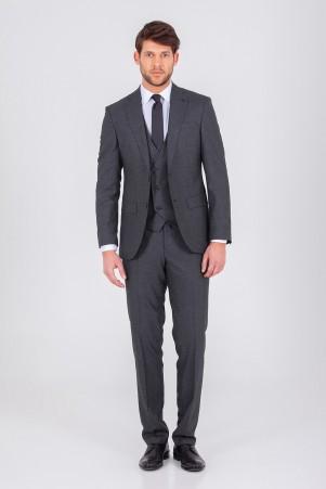 Hatem Saykı - Siyah Yelekli Slim Fit Takım Elbise (1)