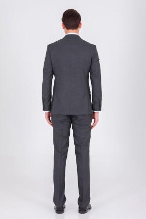 Siyah Yelekli Slim Fit Takım Elbise - Thumbnail