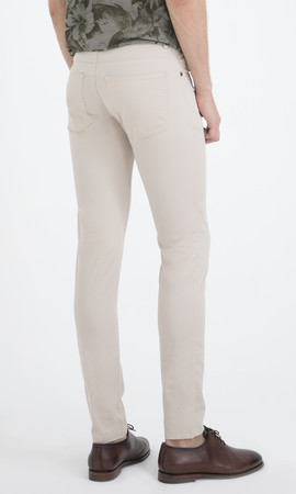Slim Fit Bej Pantolon - Thumbnail