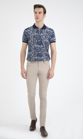 HTML - Slim Fit Bej Pantolon (1)