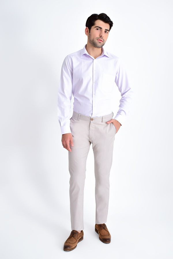 Hatem Saykı - Slim Fit Bej Pantolon (1)