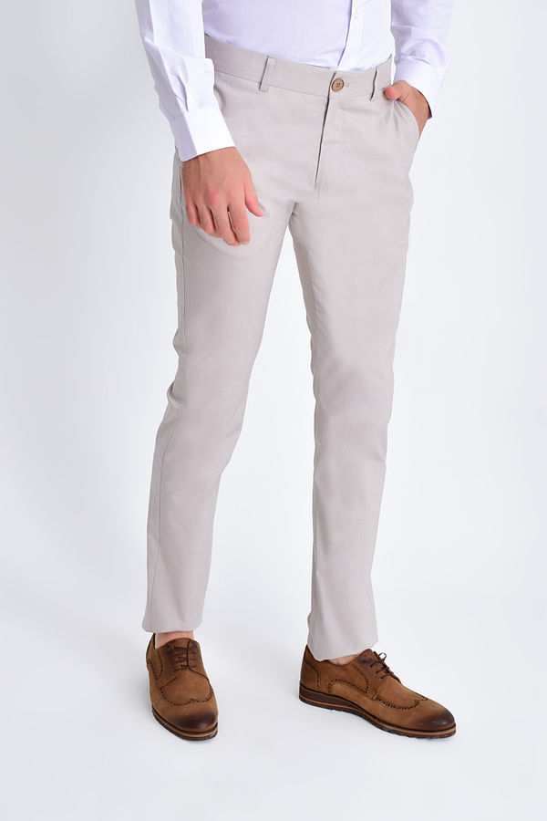 Hatem Saykı - Bej Slim Fit Spor Pantolon