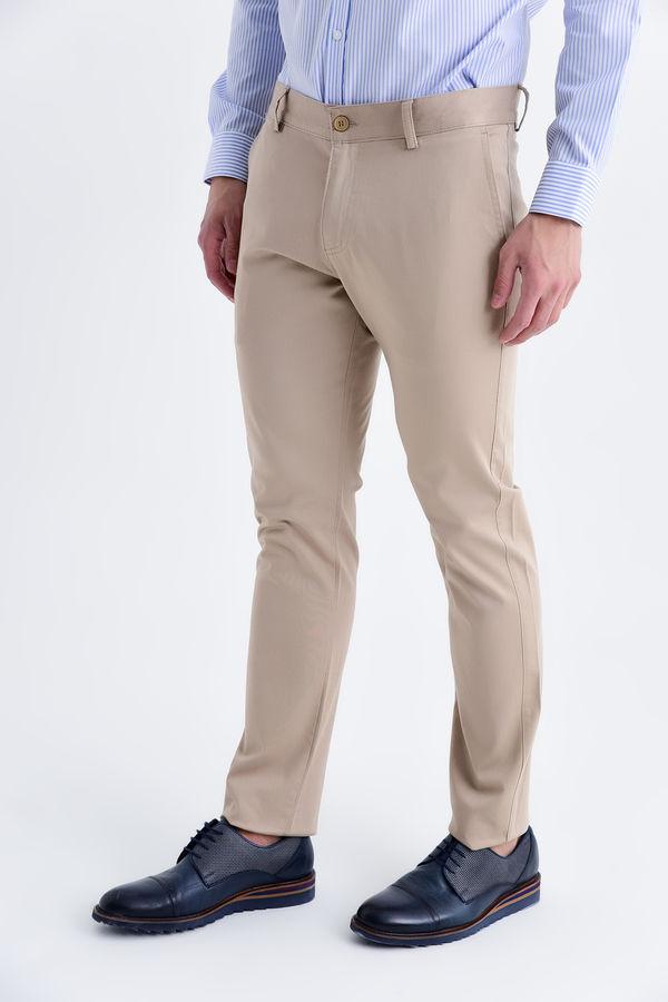 Slim Fit Bej Pantolon