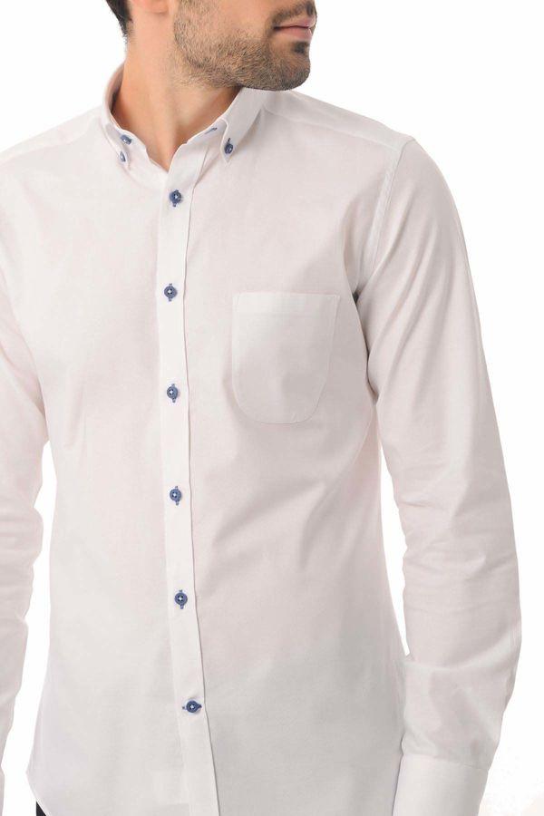 Slim Fit Beyaz Gömlek