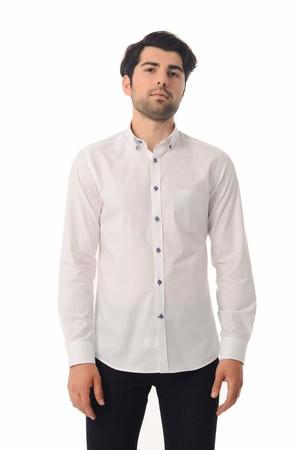 HTML - Slim Fit Beyaz Gömlek